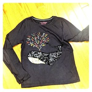 Mini Boden long sleeve embellished t-shirt 9/10Y